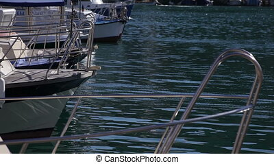 background of the boat on water in summer day
