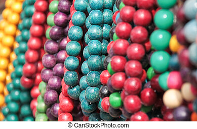 beads - background of the bright-colored beads for your...