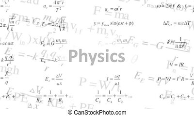 Background of the changing physical formulas. Science -...