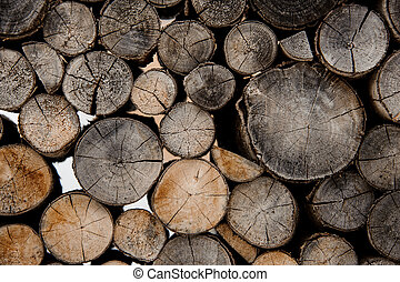 Background of the cracked firewood logs in cut
