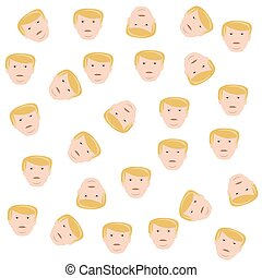 Background of the heads  Trump