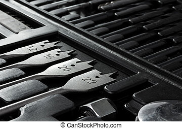 Background of the inside of a tool box