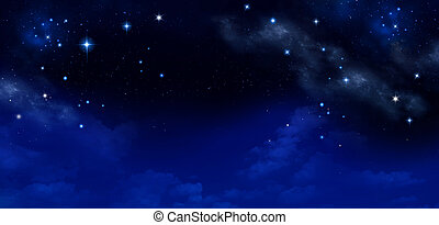 background of the night sky with stars