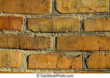 Background of the old red brick wall