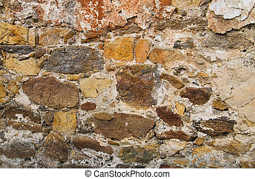 Background of the old stone wall