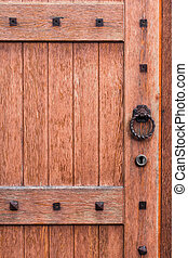 background of the old wooden doors