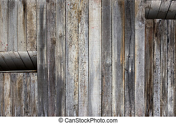 background of the wall of an old house with a window with room for text