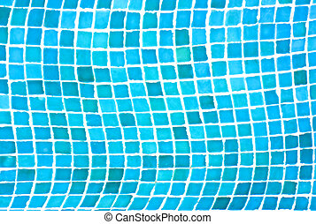 background of tiles in the swimming pool