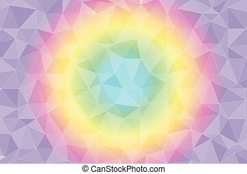 triangles in pastel colors