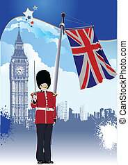 Background of United Kingdom. Vector illustration