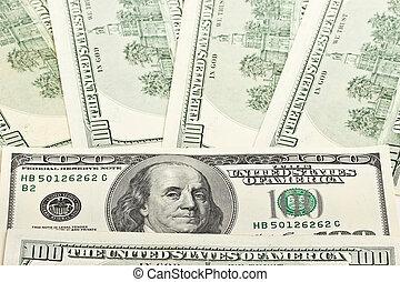 Background of US hundred dollar bills
