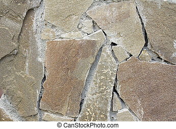 background of wall with stone bricks