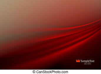 Background of warm shades with smooth red stripes.