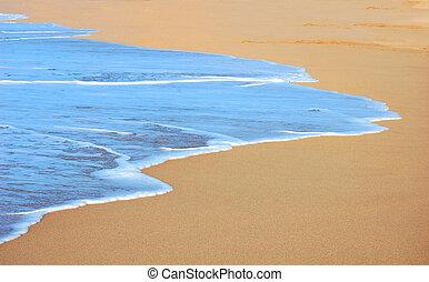 Background of Waves Washing Ashore