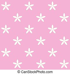 background of white flowers on pink