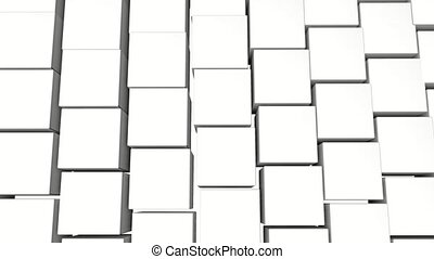 background of white three-dimensional cubes. animation. 3d rendering