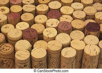 background of wine corks