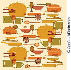 background og kitchenware set