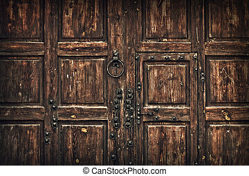 background old wooden gate