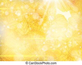 Background on a theme of autumn. EPS 10
