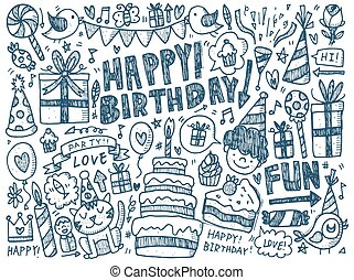 Background on the theme of a birthday