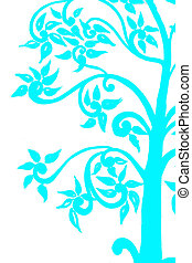 background on the tree sky blue