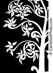 background on the tree white