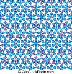 abstract blue snowflake pattern