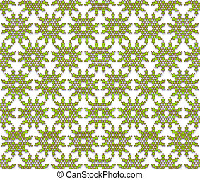 abstract pattern green flowers