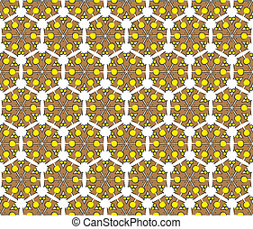brown hexagonal abstract pattern