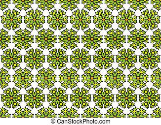 textile green hexagonal abstract pattern