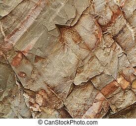 cleaved sandstone block