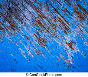 cracked blue paint