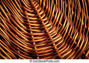 Detail of a brown wicker basket