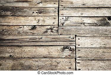 detail of old wooden floor
