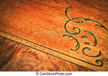 detail of old wooden furniture