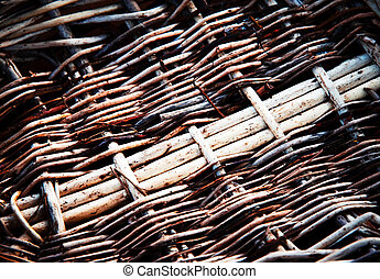 the bottom of the wicker basket