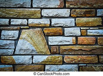 detail stone wall