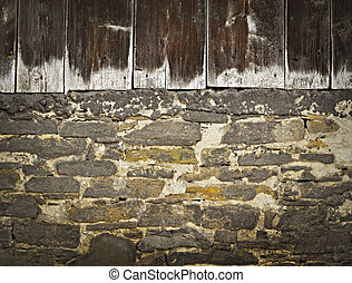 old barn wall
