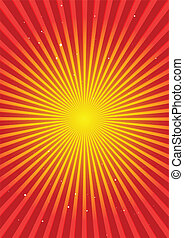 Background orange burst and stars