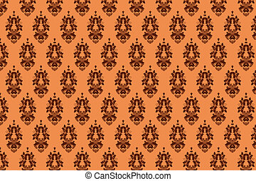 background orange vintage pattern