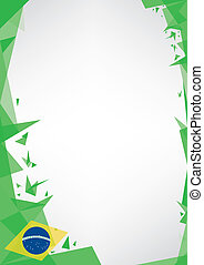background origami of brazil