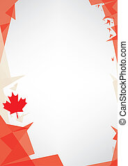 background origami of Canada