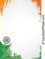 background origami of India