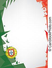 background origami of Portugal