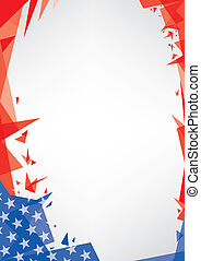 background origami of USA