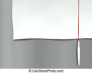 Background paper page, red line and paintbrush - Background ...