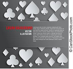 Background paper symbols card suits