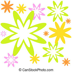 background pattern from flowers
