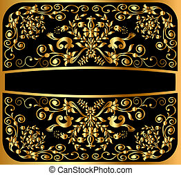 background pattern gold on black